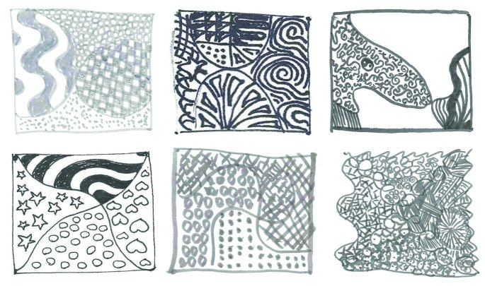 Zentangles at the Hummingbird!